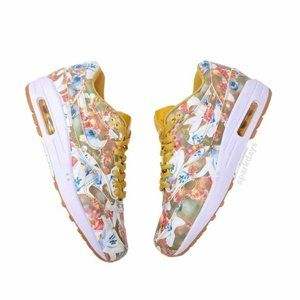 Nike Air Max 1 Bouquet Flowers Floral Sneaker 8.5